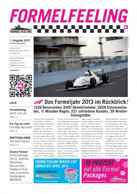 Kundenprojekte – Formelfeeling Zeitung 2013